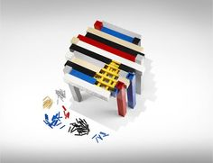 A Stylish Designer Table Made Of LEGO Bricks That You Can Build Yourself