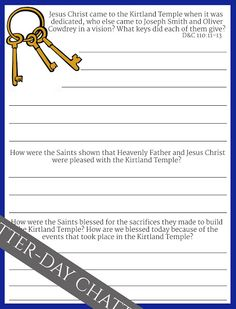 Latter-Day Chatter: Primary 5, Lesson 26