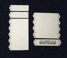 Using a border punch (punch both sides of a strip of paper), and stamp sentiment inside; this is a great idea especially if you don't have a window punch
