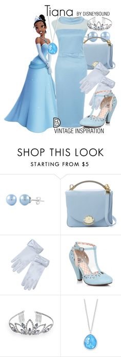 """Tiana"" by leslieakay ❤ liked on Polyvore featuring Cynthia Rowley, Crystal Allure, Ippolita, disney and disneybound"
