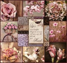 Life most beautiful thing is not seeing with the eyes, but feel with the heart. Collages, Decoupage, Color Collage, Mood Colors, Beautiful Collage, Photo Mosaic, Montage Photo, Colour Board, Mood Boards