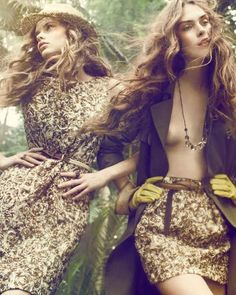 Woodland Nymph Fashion - The Elle Denmark Spring 2011 Cover is Fairytale-Like (GALLERY)