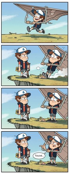 Touche by markmak on DeviantArt gravity falls Gravity Falls Funny, Gravity Falls Fan Art, Gravity Falls Comics, Gravity Falls Journal, Desenhos Gravity Falls, Gavity Falls, Fall Memes, Fall Humor, Dipper And Mabel