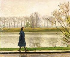 Femme en bleu. La Frette. Hiver, Albert Marquet. French Fauvist Painter (1875 - 1947)