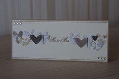 """Hochzeitskarten - Karte zur Hochzeit """"Mr & Mrs"""" - ein Designerstück von Das-Werk-der-Feen bei DaWanda"""
