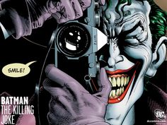 Brian Bolland. Realistic enough smile to be even creepier than if it were drawn more simple