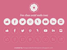 Free PSD Goodies and Mockups for Designers: FREE VECTOR SOCIAL MEDIA CLEAN ICONS