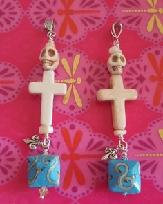 Dedicated Turquoise Cross Charm Pendant Witch Estate Protection Shield From Harm Amulet Necklaces & Pendants
