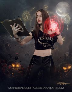 Young witch by marcosnogueiracb on DeviantArt Gothic Fantasy Art, Beautiful Fantasy Art, Beautiful Girl Image, Fantasy Girl, Witch Aesthetic, Aesthetic Girl, Witcher Wallpaper, Feeling Pictures, Witch Powers