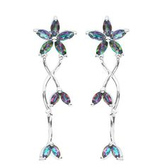 3.5ct Genuine Natural Fire Rainbow Mystic Topaz Drop Earring Only $49.99 => Save up to 60% and Free Shipping => Order Now! #Bracelets #Mystic Topaz #Earrings #Clip Earrings #Emerald #Necklaces #Rings #Stud Earrings