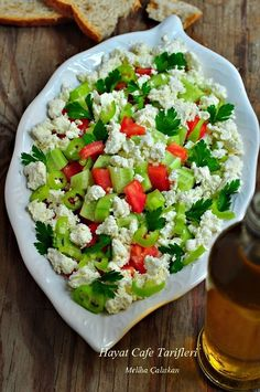 Taze Izmir kasar loru ve iyi … Gypsy salad. The indispensable of the Aegean Breakfast. It is insatiable if made with fresh Izmir curd and good olive oil. Rice Salad Recipes, Pasta Recipes, Turkish Recipes, Italian Recipes, Vegan Recipes Easy, Cooking Recipes, Italian Rice, Turkish Salad, Rice Dishes