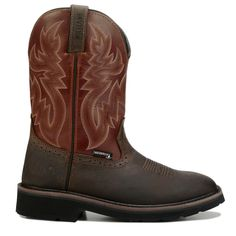 Wolverine Men's Rancher Medium/X-Wide Waterproof Soft Toe Work Boots (Rust/Brown Leather)