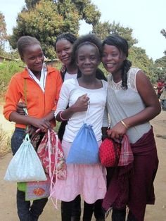 Girls in Zambia receive their Days for Girls feminine hygiene kits thanks to amazing volunteers.