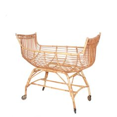 Belle rattan baby bassinet by The Rattan Collective, Byron Bay. Baby Bassinet, Wicker Furniture, Byron Bay, Spawn, Home Decor, Children, Moses Basket, Bassinet, Vintage Decor
