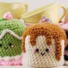 Dessert Trio amigurumi crochet pattern by You Cute Designs