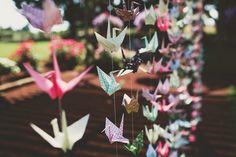 paper crane backdrop // photo by AnnaJayePhotography.com