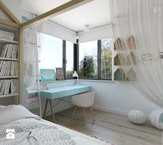 dom jednorodzinny w Legionowie - Średni pokój dziecka dla dziewczynki dla ucznia dla malucha, styl nowoczesny - zdjęcie od INSIDEarch