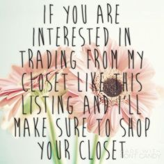 Like this Post so I can check out your closet! Please note most things are up for trading but a select few items are for sell only. Listing prices are not trading value that is purchase pricing. I am a fair trader and base upon items not price. Thanks! Other