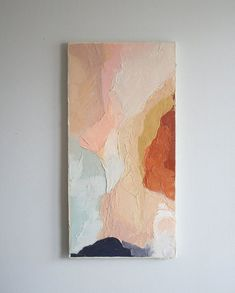 Kunst Acryl Original acrylic painting // Title: Terrain // 12 x 24 // copper, gold, blue, nude Painting Inspiration, Art Inspo, Art Sur Toile, Painting & Drawing, Painting Tools, Oeuvre D'art, Home Art, Modern Art, Contemporary Art