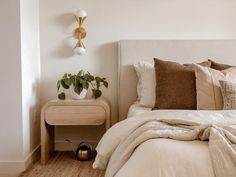 Ajai's Back (With Some Big News!)   How To Make An Apartment Bedroom (quickly) Feel Like Home - Emily Henderson #modernboho #bedroomdecor #interiors Bedroom Apartment, Home Bedroom, Sofa End Tables, New Builds, Interior Design Inspiration, Home Renovation, New Homes, House, Furniture