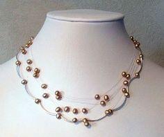 Sunrise Pearls Necklace | AllFreeJewelryMaking.com