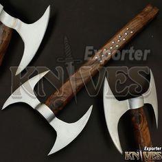 """Knives Exporter New Custom 18"""" Handle Carbon Steel Bearded Felling Axe S504 #Knivesexporter"""