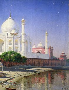 Taj Mahal, Oil On Canvas, Canvas Art, Surf Shop, Artist Canvas, Baby Clothes Shops, Giclee Print, Kids Shop, Fine Art