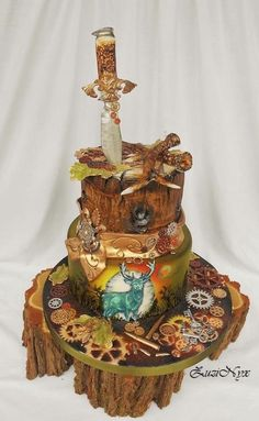 ..for hunters in steampunk style.. - Cake by ZuziNyx