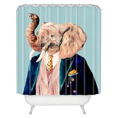 DENY Designs Mr Elephant Shower Curtain