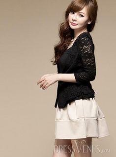 Soft OL Style All-matched Hot Selling High Range Lace Blazer