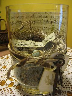 Spring Bird's Nest Centerpiece.