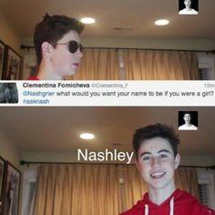 Nashley or Nash??? Nash is a famous youtuber!!!