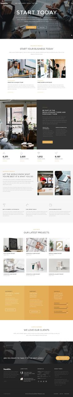 Franklin is creative, fully responsive and powerful WordPress #Theme for #business, #creative agency or personal portfolio, photography or a blogging website. Download Now!