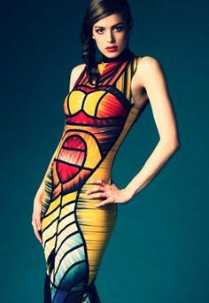 Dress made out of old Olympic speedos