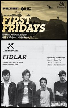 LOOK: FIDLAR Joining Us In Mammoth For Our February First Fridays Show
