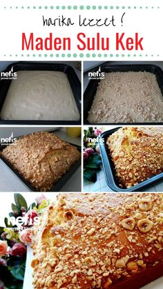 How To Make Great Cake Making Recipe With Mineral Water? Illustrated explanation of this recipe in the person book and photos of those who try it are here. Cakes To Make, How To Make Cake, East Dessert Recipes, Desserts, Agua Mineral, Turkish Kitchen, Banana Pudding Recipes, Wie Macht Man, Beautiful Cakes