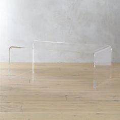 CB February Catalog Peekaboo Acrylic Coffee Table Lofty - Cb2 acrylic side table