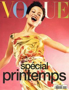 Carolyn Murphy en couverture du numéro de février 1997 de Vogue Paris http://www.vogue.fr/thevoguelist/carolyn-murphy/68