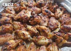 Fırında Tavuk Kanat (Mangal Tadında) - Leziz Yemeklerim Kfc, Cauliflower, Chicken Recipes, Meat, Vegetables, Food, Cooking Recipes, Cauliflowers, Essen