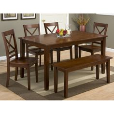 Simplicity Rectangle Dining Table And Chair Set With Bench By Jofran At Marlo Furniture