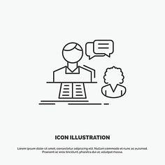 Icones Cv, Discussion, Illustration, Fishing Line, Illustrations
