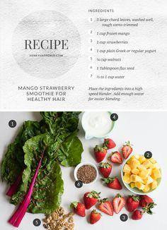 Mango Strawberry Healthy Hair Smoothie | HenryHappened.com