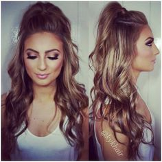 Quick And Easy Half-up Half-down Hairstyles – Prom Hair Pretty Hairstyles, Easy Hairstyles, Prom Hairstyles, Half Pony Hairstyles, Half Up Half Down Hairstyles, Natural Hairstyles, Quinceanera Hairstyles, School Hairstyles, Concert Hairstyles