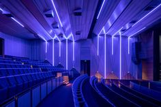 Lighting and acoustics combine to create a stunning theatre space. Corpus Christi College, Acoustic Design, Theatre, Space, Lighting, Projects, Decor, Floor Space, Log Projects