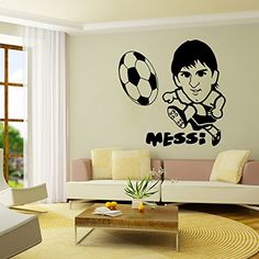 FangeplusTM DIY Removable Lionel Andres Messi Football Player Art Mural Vinyl Waterproof Wall Stickers Kids Room Decor Nursery Decal Sticker Wallpaper177x177 >>> Check out this great product.