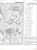 6 plastic canvas ornaments, chart page, page 3/3