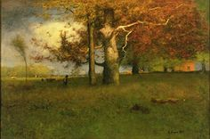 George Inness - moody color and lighting - so cool!