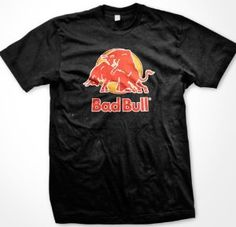 Bad Bull T-shirt, Funny Trendy College Style Mens T-shirt $14.95