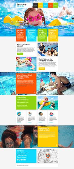 Template 52860 - Swimming Responsive Website Template