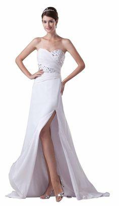 Evening Gowns Elegant Sweetheart Sleeveless Delicate Beading #eveningGown #elegant